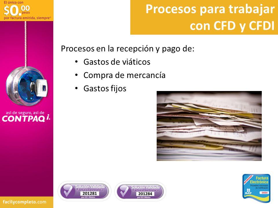 Procesos para trabajar con CFD y CFDI
