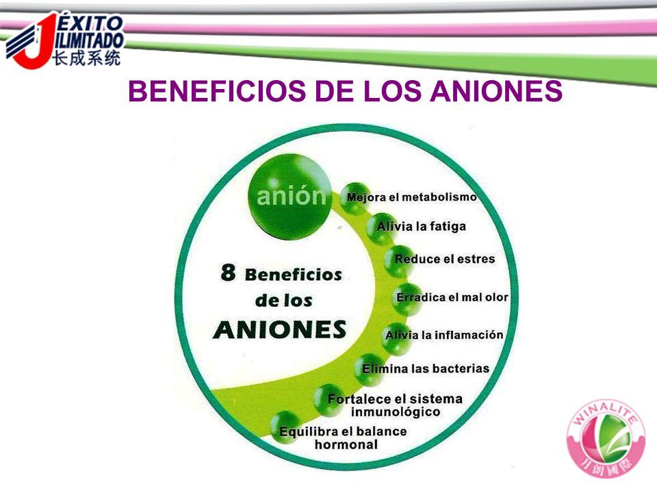 BENEFICIOS DE LOS ANIONES