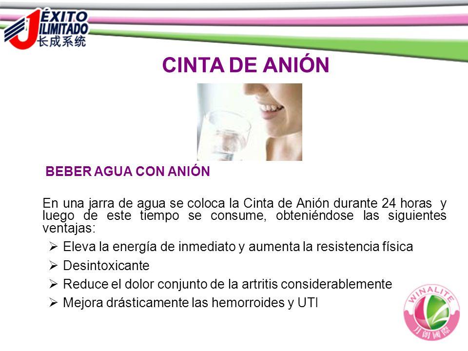 CINTA DE ANIÓN BEBER AGUA CON ANIÓN