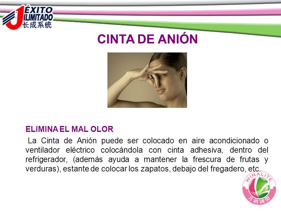 CINTA DE ANIÓN ELIMINA EL MAL OLOR