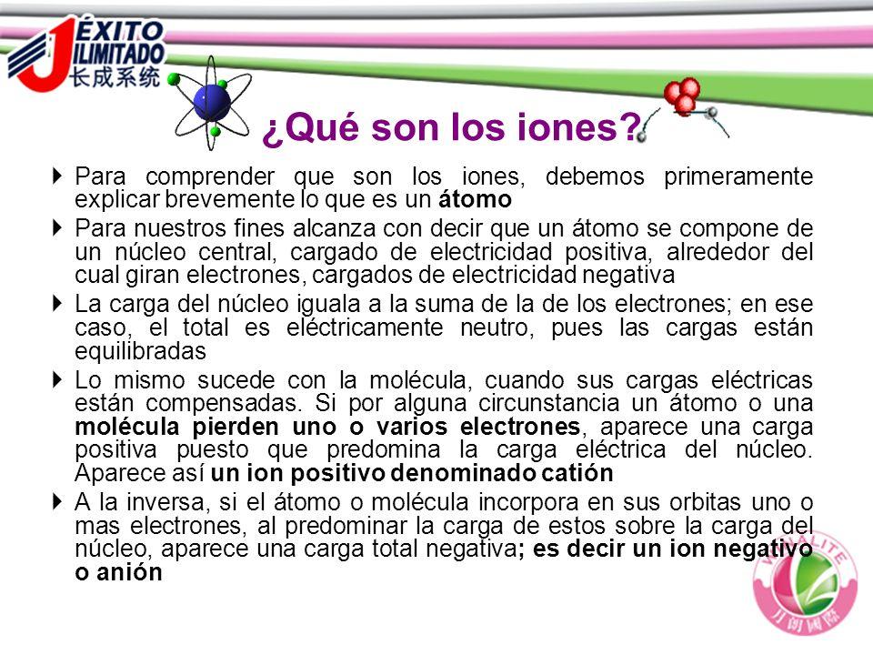¿Qué son los iones Para comprender que son los iones, debemos primeramente explicar brevemente lo que es un átomo.