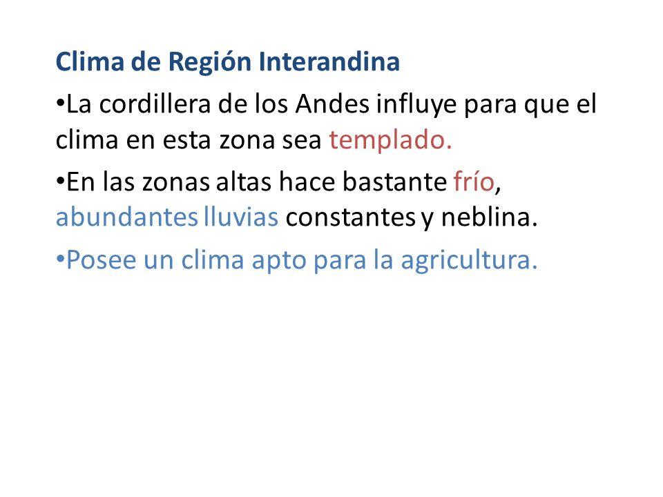 Clima de Región Interandina