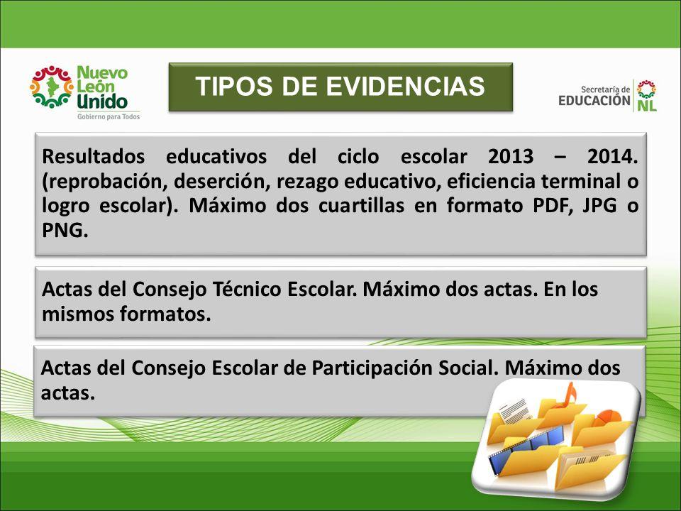 TIPOS DE EVIDENCIAS