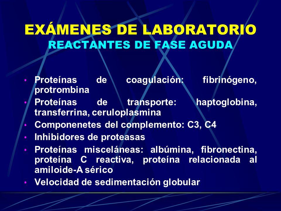 EXÁMENES DE LABORATORIO REACTANTES DE FASE AGUDA