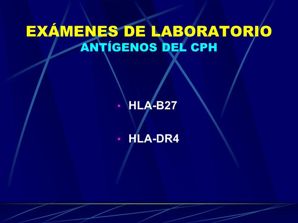 EXÁMENES DE LABORATORIO ANTÍGENOS DEL CPH