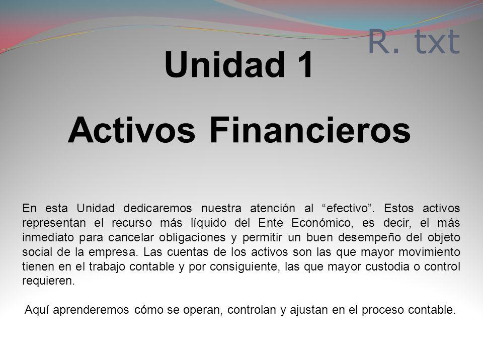 Unidad 1 Activos Financieros