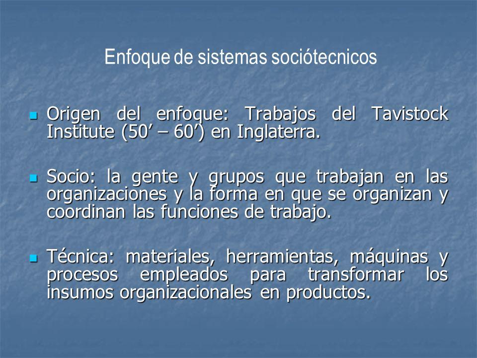 Enfoque de sistemas sociótecnicos