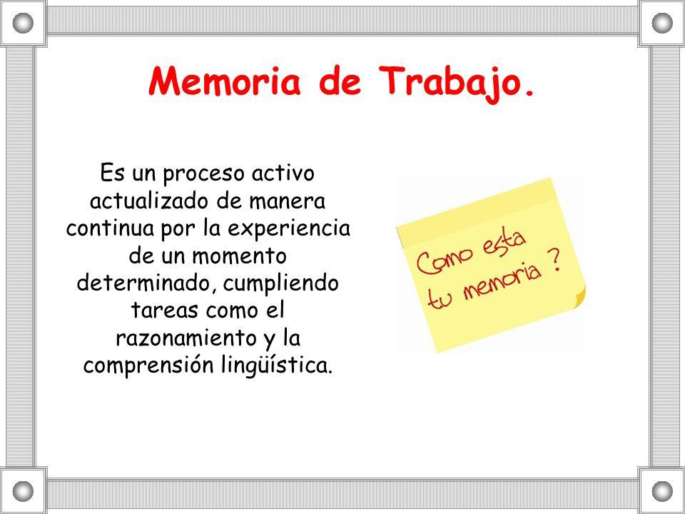 Memoria de Trabajo.