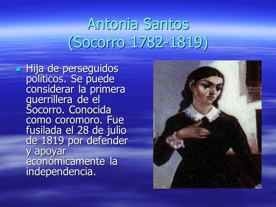 Antonia Santos (Socorro 1782-1819)
