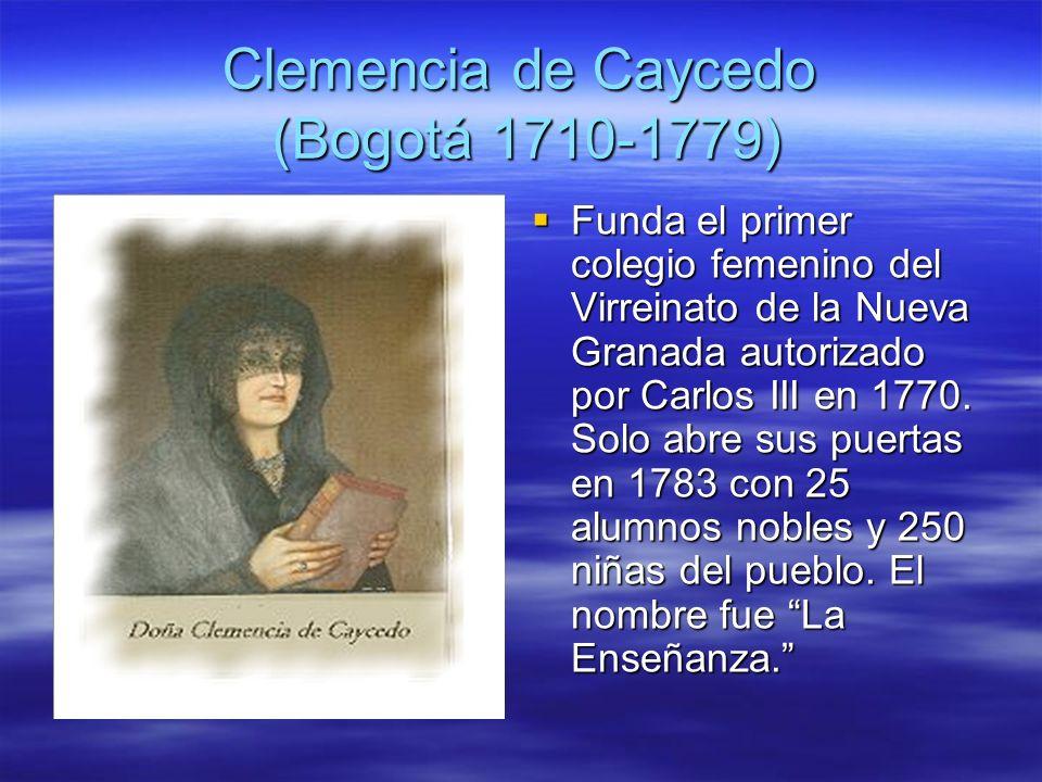 Clemencia de Caycedo (Bogotá 1710-1779)