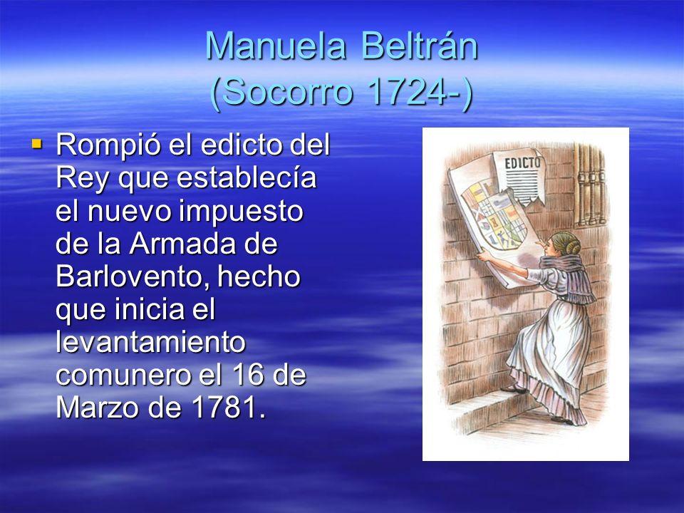 Manuela Beltrán (Socorro 1724-)