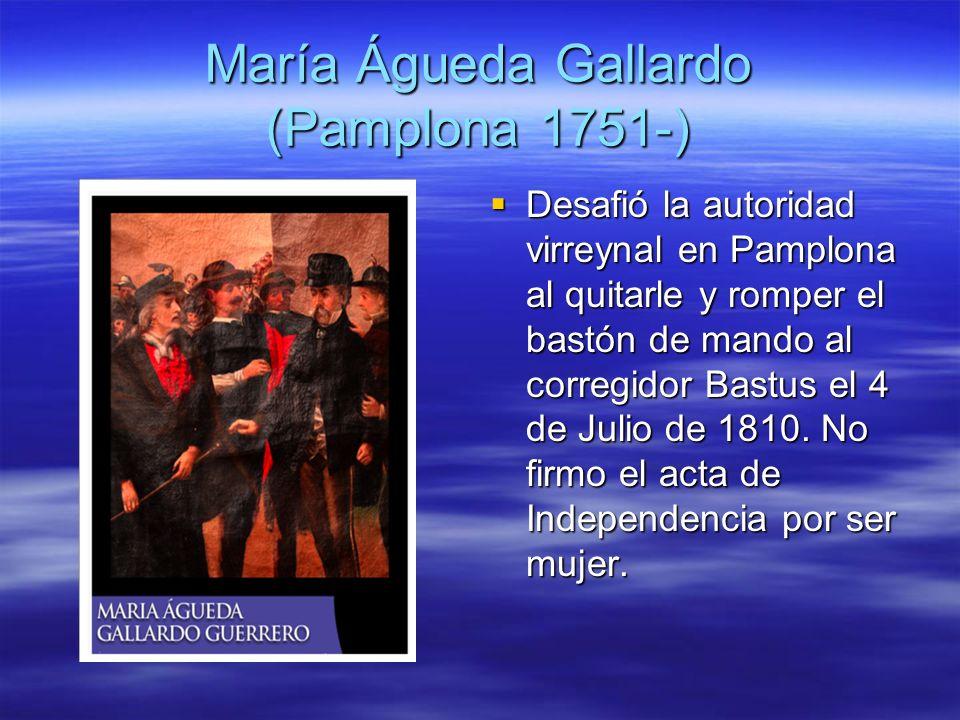 María Águeda Gallardo (Pamplona 1751-)