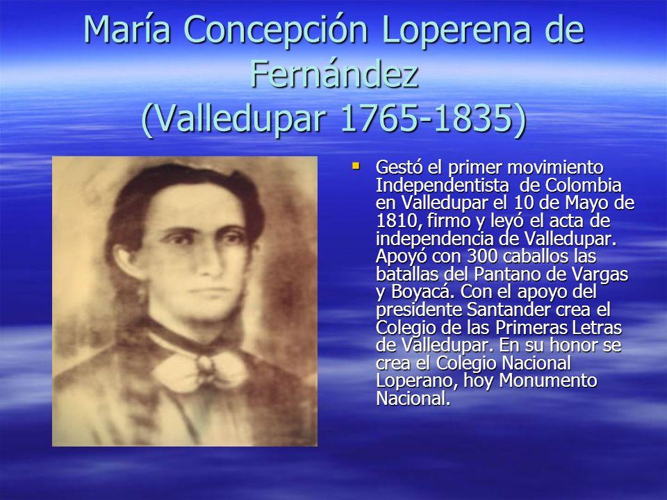 María Concepción Loperena de Fernández (Valledupar 1765-1835)