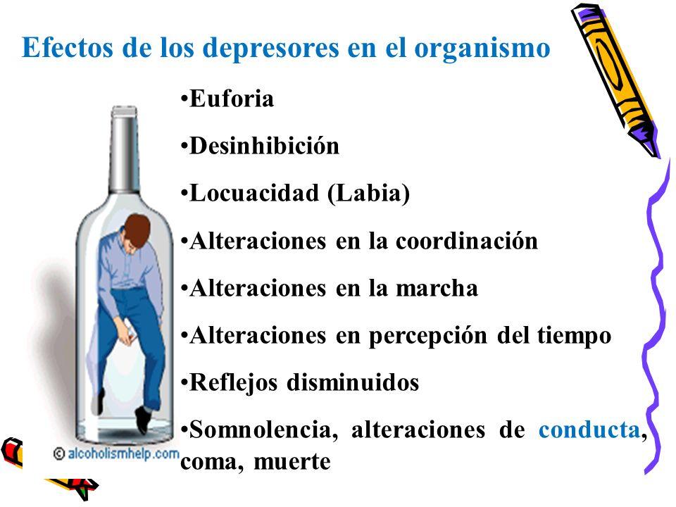 Efectos de los depresores en el organismo