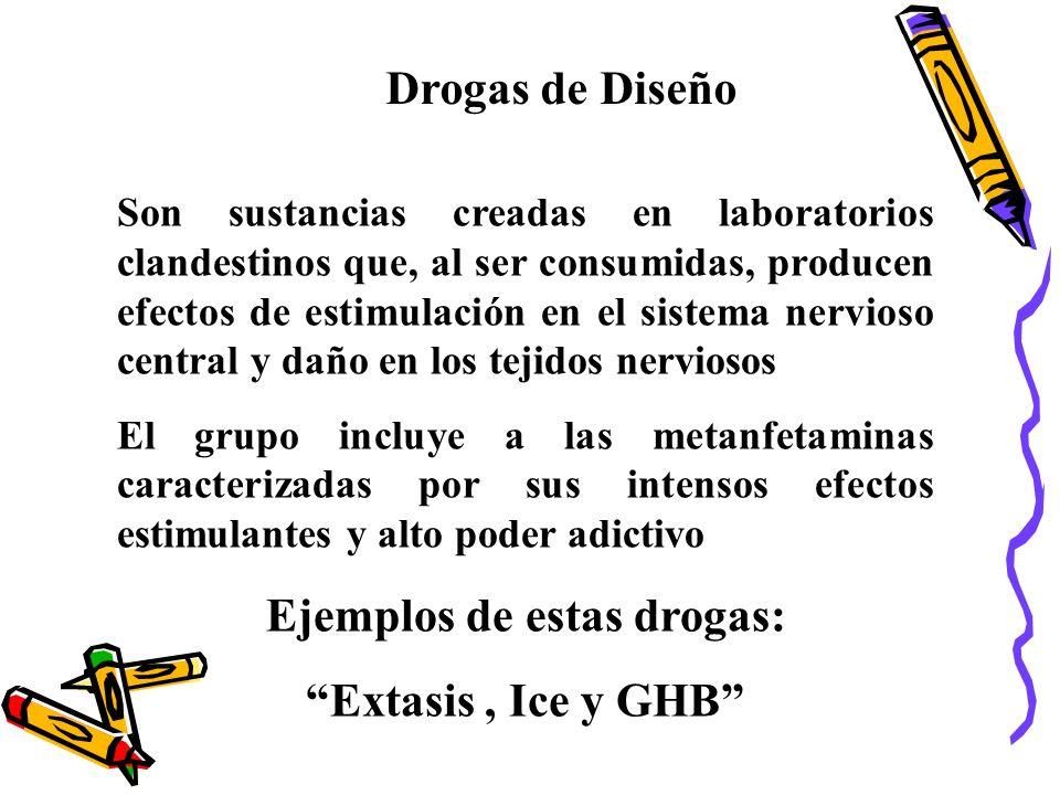 Ejemplos de estas drogas: