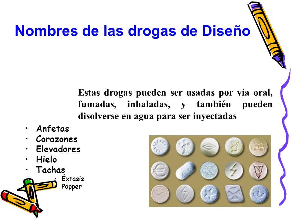 Nombres de las drogas de Diseño