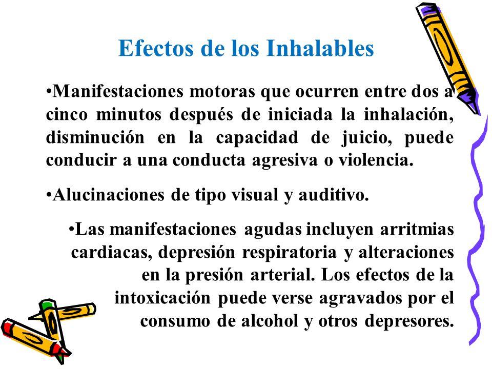 Efectos de los Inhalables
