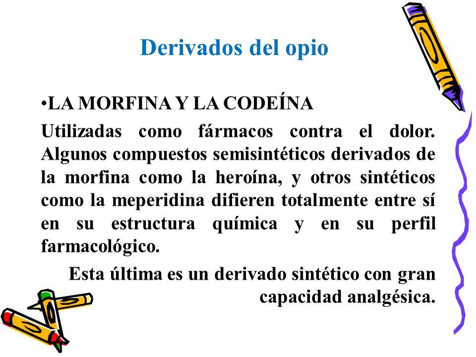Derivados del opio LA MORFINA Y LA CODEÍNA