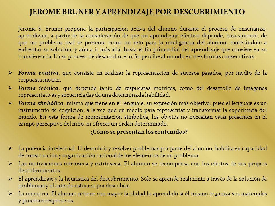 JEROME BRUNER Y APRENDIZAJE POR DESCUBRIMIENTO