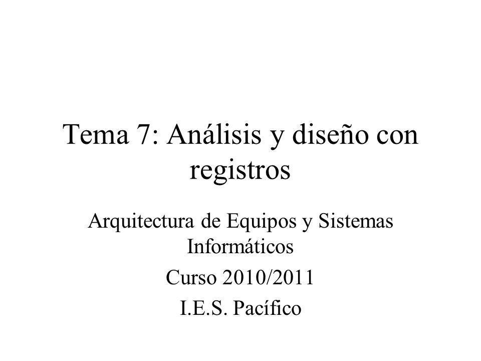 Tema 7: Análisis y diseño con registros
