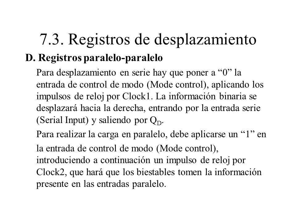 7.3. Registros de desplazamiento