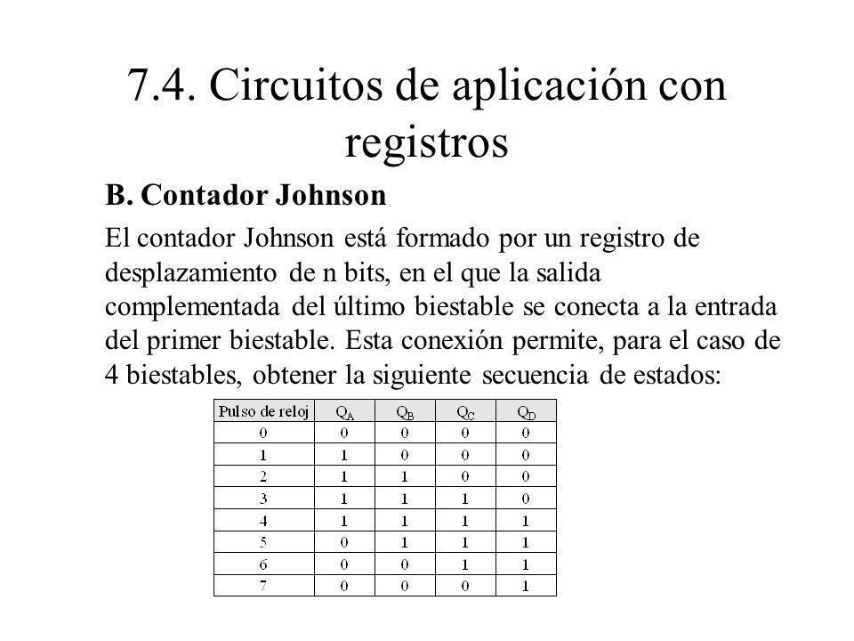 7.4. Circuitos de aplicación con registros