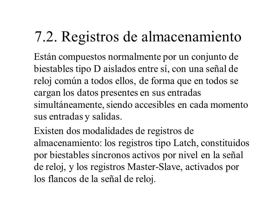 7.2. Registros de almacenamiento