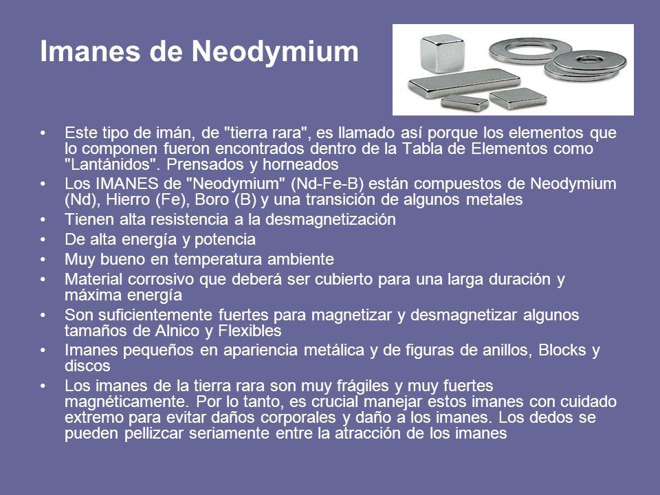 Imanes de Neodymium