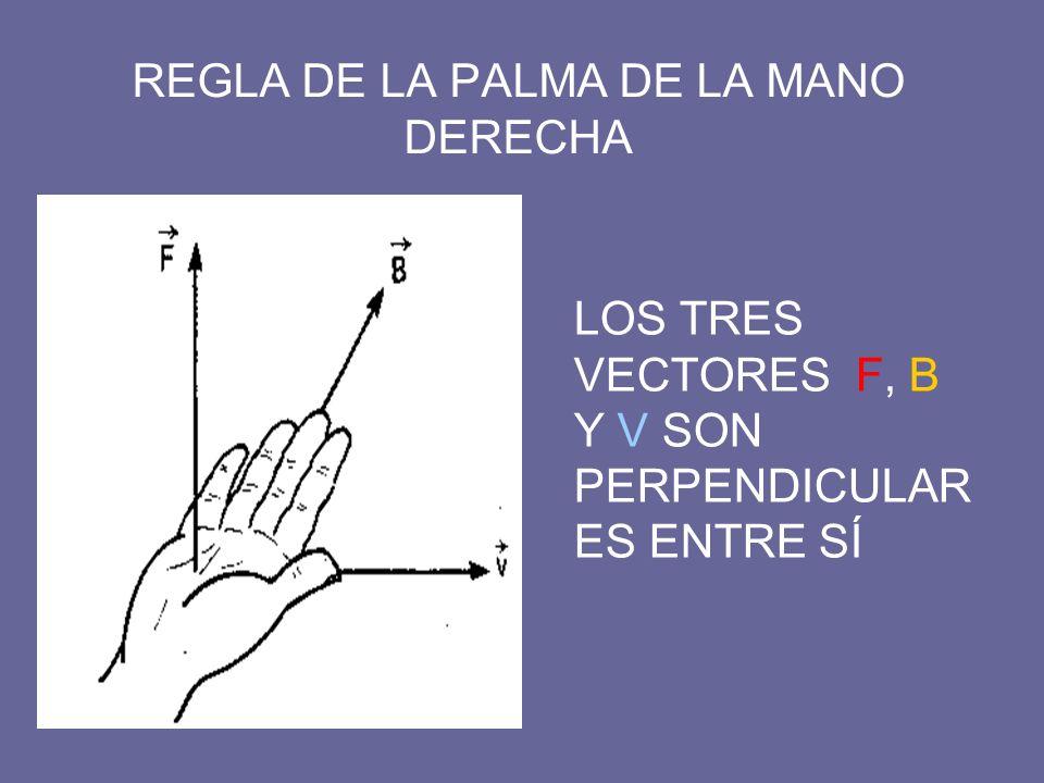 REGLA DE LA PALMA DE LA MANO DERECHA