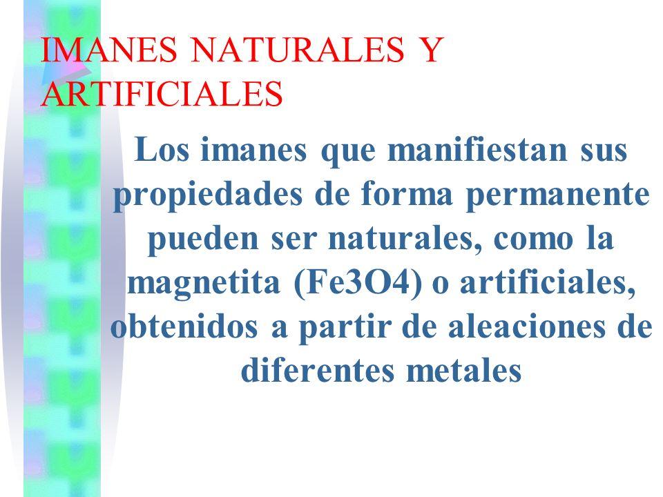 IMANES NATURALES Y ARTIFICIALES