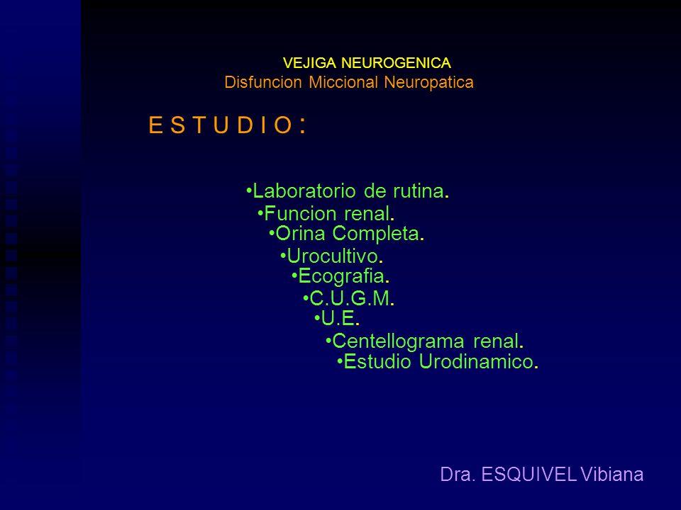 Disfuncion Miccional Neuropatica