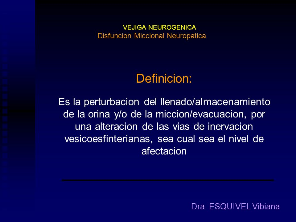 Disfuncion Miccional Neuropatica