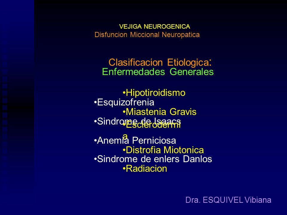 Clasificacion Etiologica: Enfermedades Generales