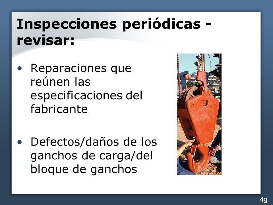 Inspecciones periódicas - revisar:
