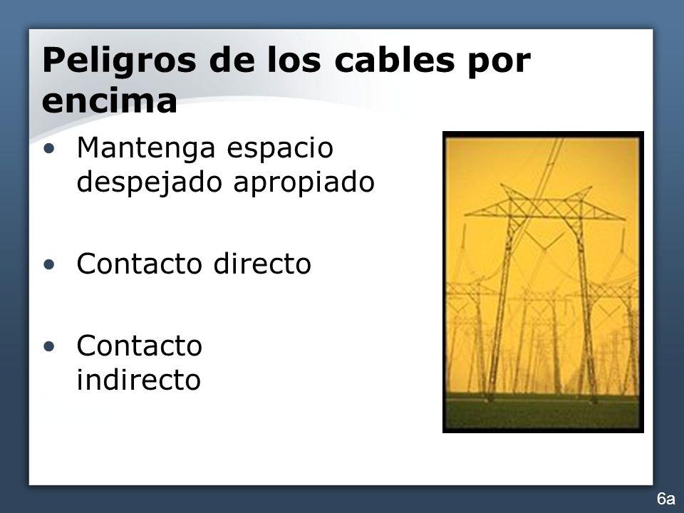 Peligros de los cables por encima