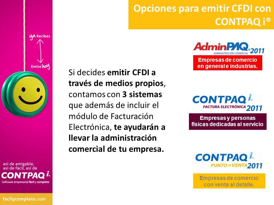 Opciones para emitir CFDI con CONTPAQ i®