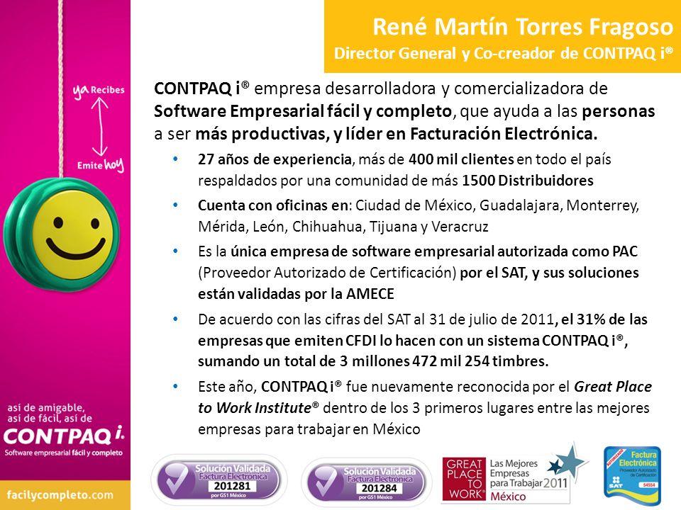 René Martín Torres Fragoso Director General y Co-creador de CONTPAQ i®