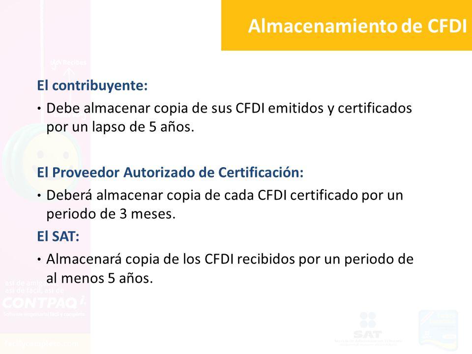 Almacenamiento de CFDI