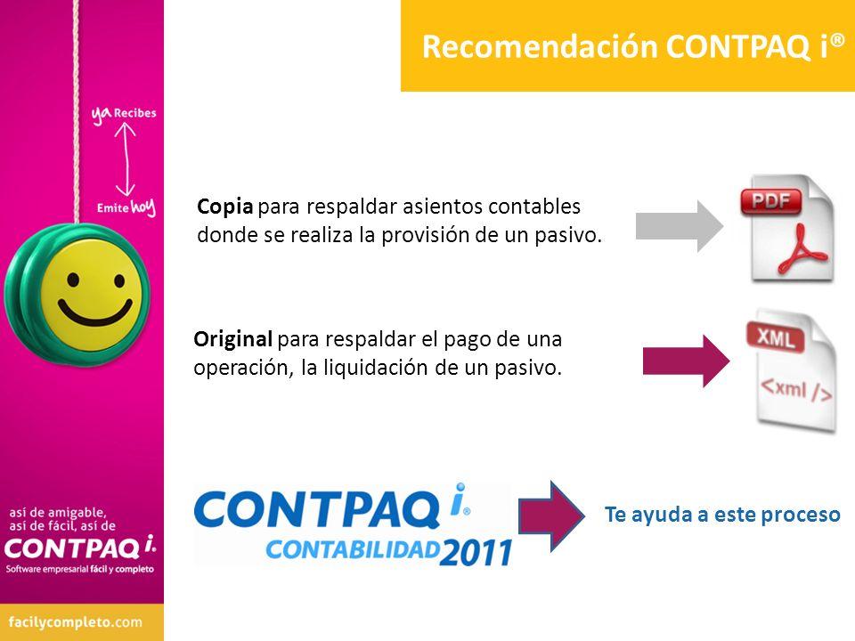 Recomendación CONTPAQ i®