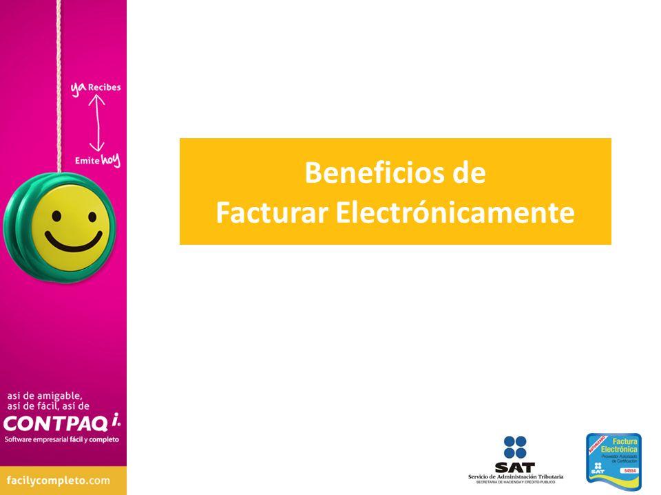 Beneficios de Facturar Electrónicamente