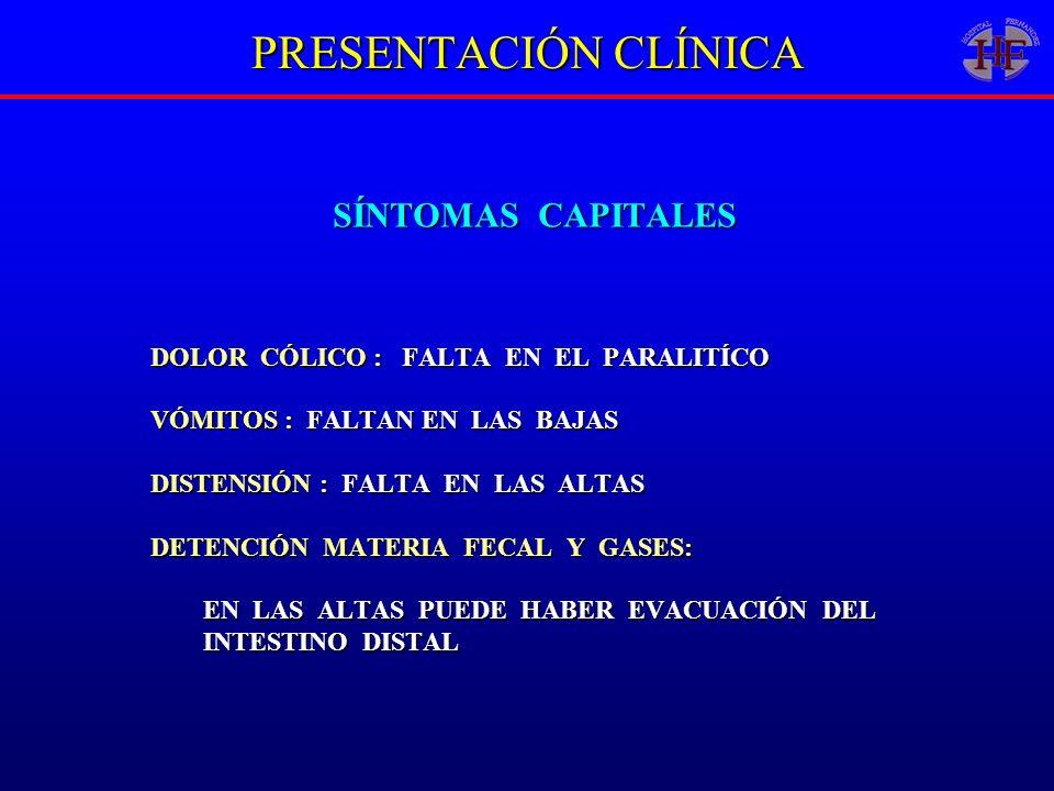 PRESENTACIÓN CLÍNICA SÍNTOMAS CAPITALES