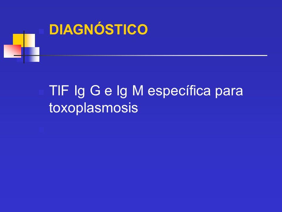 DIAGNÓSTICO TIF Ig G e Ig M específica para toxoplasmosis