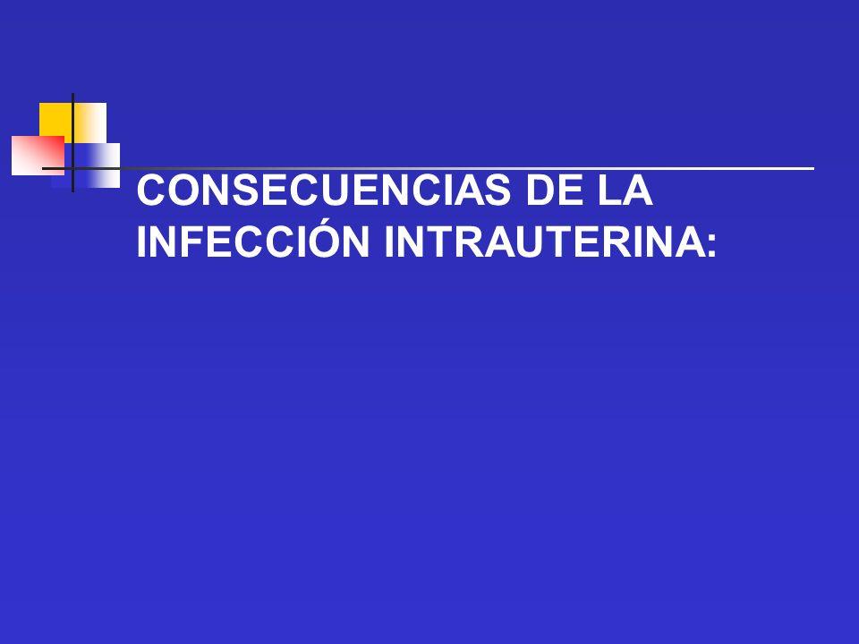 CONSECUENCIAS DE LA INFECCIÓN INTRAUTERINA: