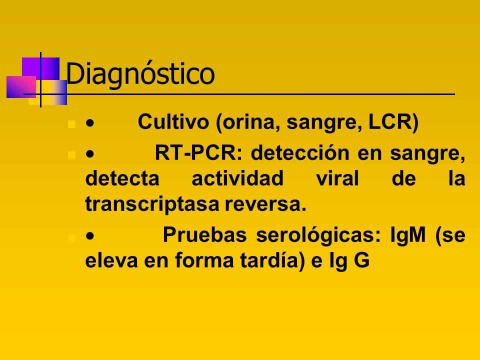 Diagnóstico · Cultivo (orina, sangre, LCR)