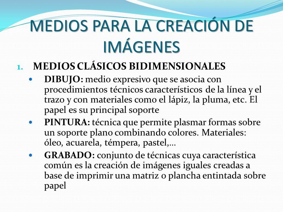 MEDIOS PARA LA CREACIÓN DE IMÁGENES