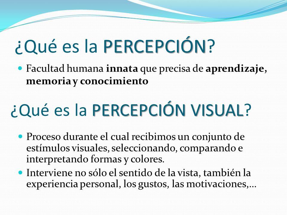 ¿Qué es la PERCEPCIÓN ¿Qué es la PERCEPCIÓN VISUAL
