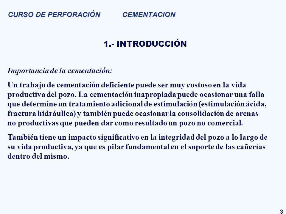 CURSO DE PERFORACIÓN CEMENTACION