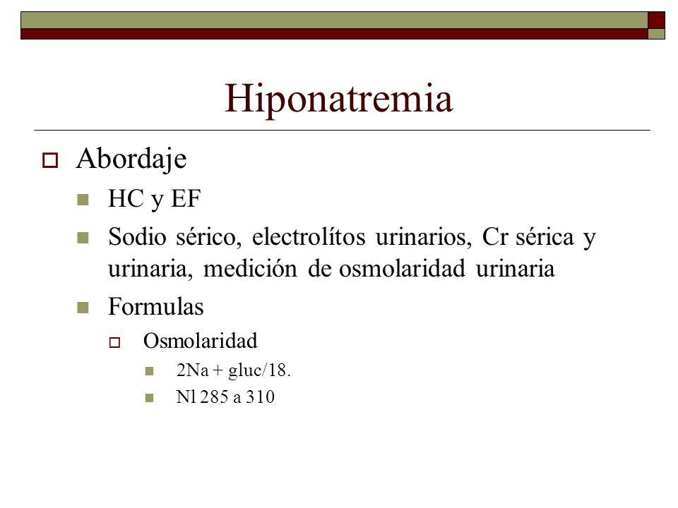 Hiponatremia Abordaje HC y EF