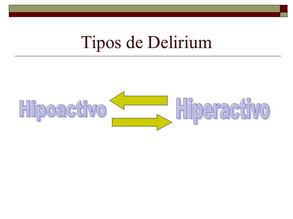Tipos de Delirium Hiperactivo Hipoactivo
