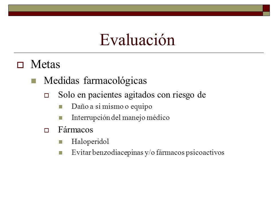 Evaluación Metas Medidas farmacológicas